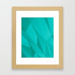 Geo Teal Framed Art Print