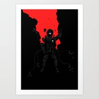 prometheus Art Prints featuring Prometheus by Motorsapien