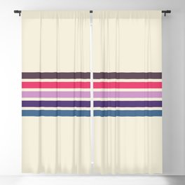 Five Trendy Stripes on White 17 Blackout Curtain