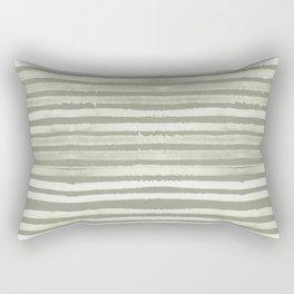 Simply Shibori Stripes Green Tea and Lunar Gray Rectangular Pillow