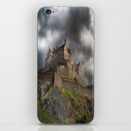Rain Clouds Over Edinburgh Castle iPhone Skin