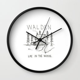 WALDEN Life in the woods Wall Clock