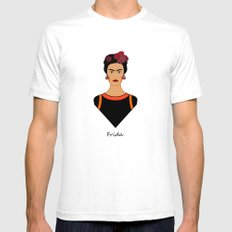 Frida ii SMALL White Mens Fitted Tee