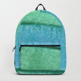 Blue Mint Colored Bubble Gum Texture Backpack