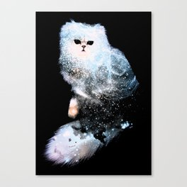 Celestial Cats - The Persian and the Ashes of the First Stars Canvas Print