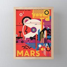 NASA Retro Space Travel Poster #9 Mars Framed Mini Art Print