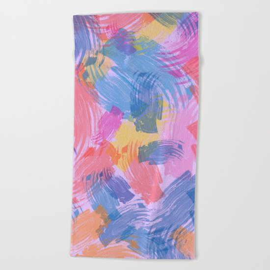 Abstract Painting II Beach Towel