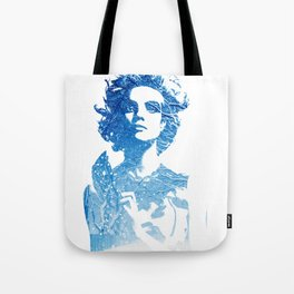 Snow: Natalia Vodianova Tote Bag