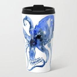 Navy Blue Octopus Artwork Travel Mug