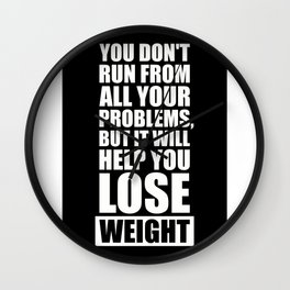 Lab No. 4 - It will help you lose weight Gym Workout Quotes Poster Wall Clock