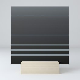 Coal and Selenium lines Mini Art Print