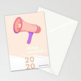 listen carefuly Stationery Cards