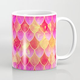 Squama Fish Pattern Flowe-of-Life Coffee Mug