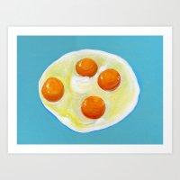 Four Fried Eggs  Art Print