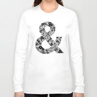 helvetica Long Sleeve T-shirts featuring Helvetica Ampersand by Phillip Kauffman