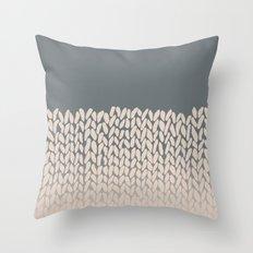 Half Knit Ombre Nat Throw Pillow