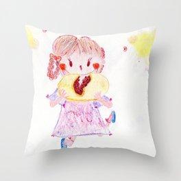 Yum red bean steamed Manjyu Throw Pillow