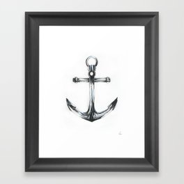 Blue Anchor Framed Art Print