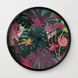 Tropical Tendencies Wall Clock