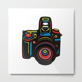Black Camera Metal Print
