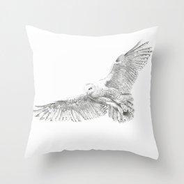 Snowy Owl, Bubo Scandiacus Throw Pillow