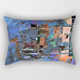 Earth Outpost Abstract Sci-Fi Rectangular Pillow
