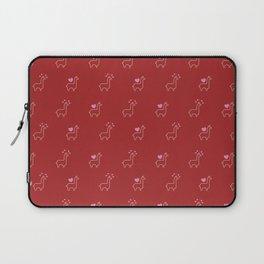 Baesic Llama In Love Laptop Sleeve