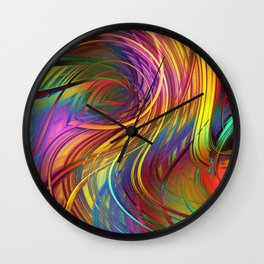 Color  Strings in the Wind Wall Clock