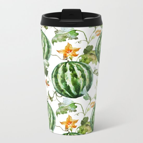 Melon Pattern 05 Metal Travel Mug