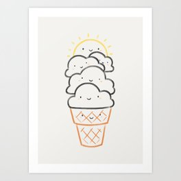 Everyday is like Sundae Art Print