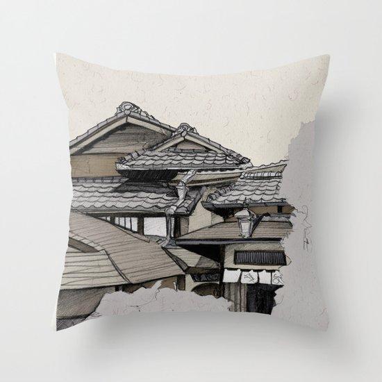 Vintage Gion Throw Pillow