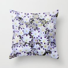 Flower carpet Throw Pillow