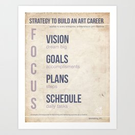 Art Biz Strategy V1 Art Print
