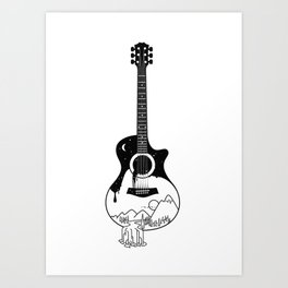 The intriguing sounds of nature Art Print