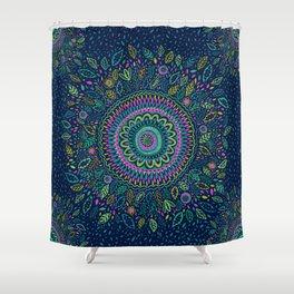 Midnight Garden Mandala Shower Curtain