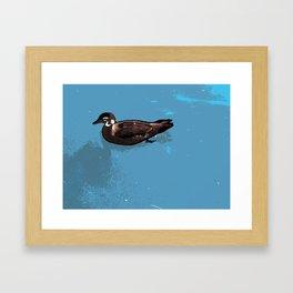 Wood; duck Framed Art Print