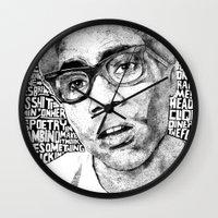 childish gambino Wall Clocks featuring Gambino by Seth Beukes