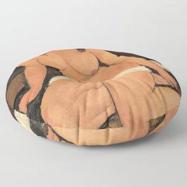 Amedeo Modigliani - Sitting Naked - Digital Remastered Edition Floor Pillow