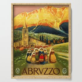 Vintage Abruzzo Italy Travel Serving Tray