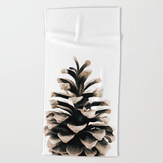 Pinecone Beach Towel
