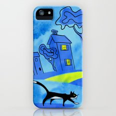 Night Cat On The Prowl iPhone (5, 5s) Slim Case