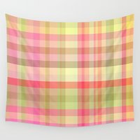 square Wall Tapestries featuring Square 	 by Susann Mielke