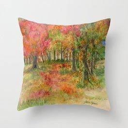 Autumn Woodlands Throw Pillow