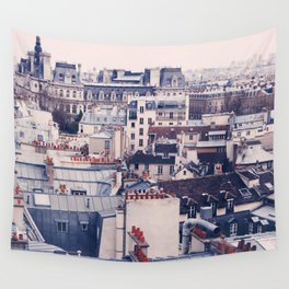 Paris Rooftops Reprise Wall Tapestry