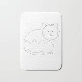 Christmas Pudding Cat Bath Mat