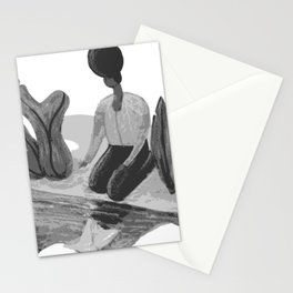Woman with Paper Boat by The Riverside Stationery Cards