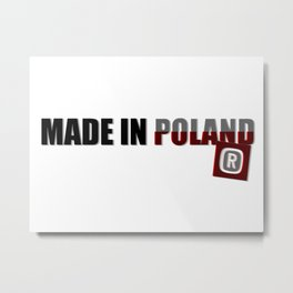 Made in Poland, patriotic shirts, country proud tee shirt design v.2 shadowed Metal Print