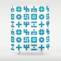 gizmo Shower Curtains featuring gizmo by Smith Reid