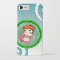 ponyo iPhone & iPod Cases featuring Ponyo  by SamIAmTheSam