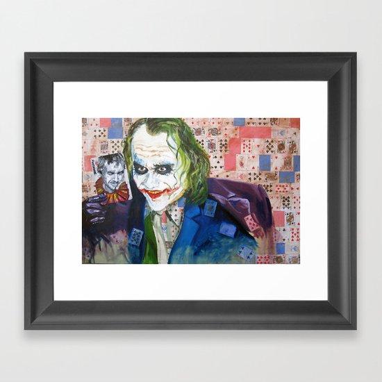 Jokes on You (JOKER) Framed Art Print